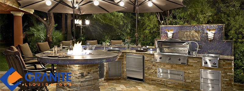 What you need to know about outdoor kitchen countertops for How much does it cost to build an outdoor kitchen