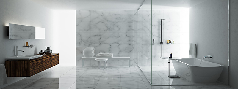 Example of Marble being utilized for a Bathroom application