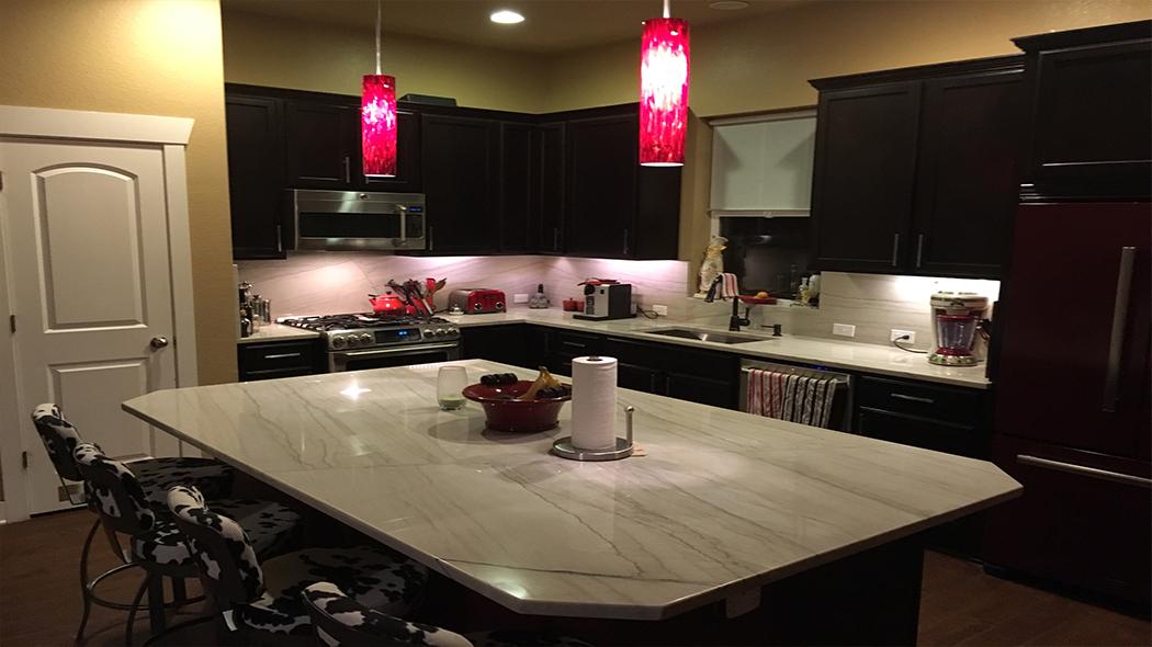 Jenny Horton White Macaubas Kitchen Granite Liquidators