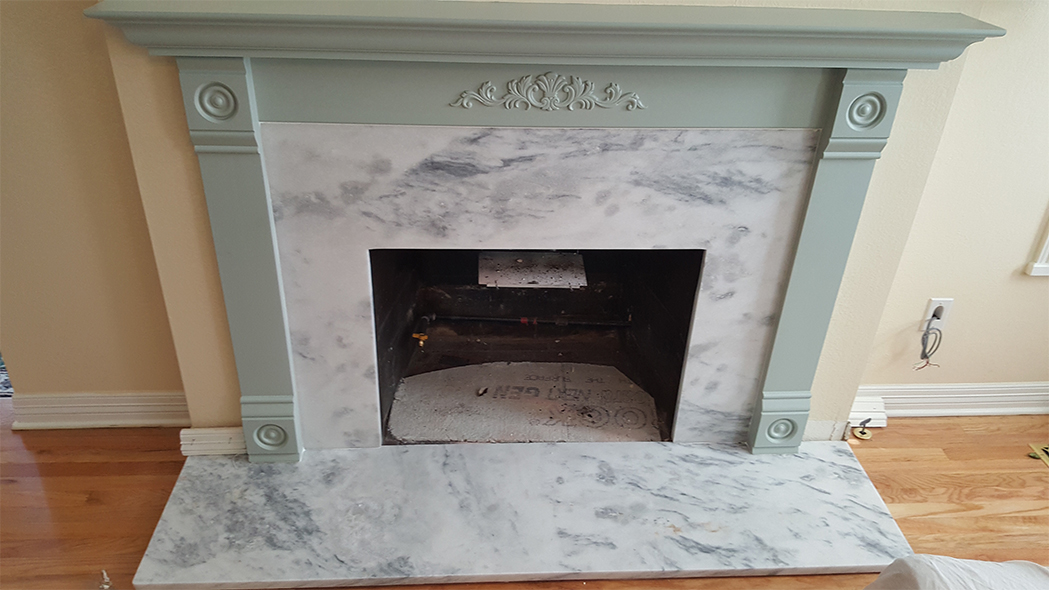 Victoria Joyce Supreme White Fireplace Granite Liquidators