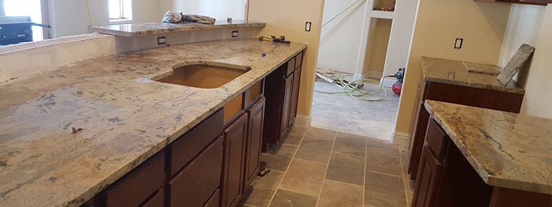 golden crystal granite countertops installed