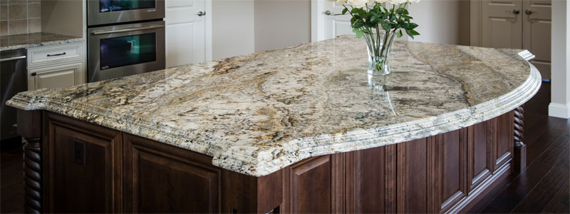 a quartzite 6 cm granite countertop
