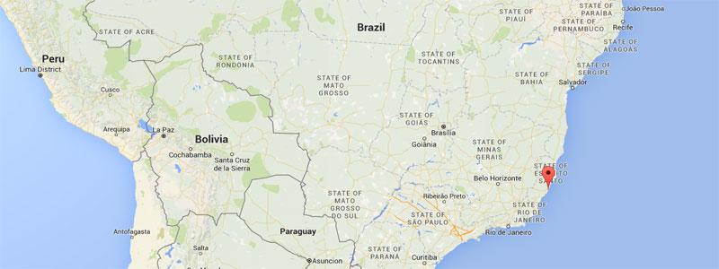 a map showing vitoria brasil