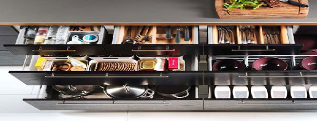 drawers with boxes