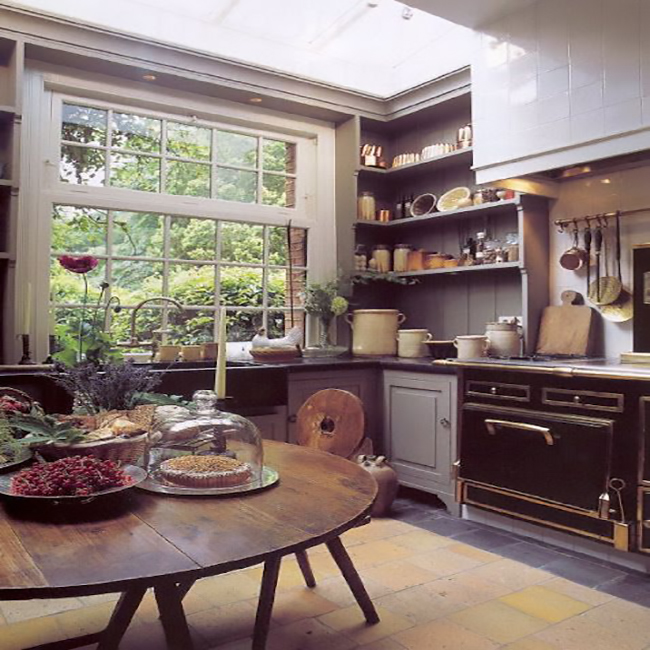 gray-Kitchen-Open-shelves-Idea