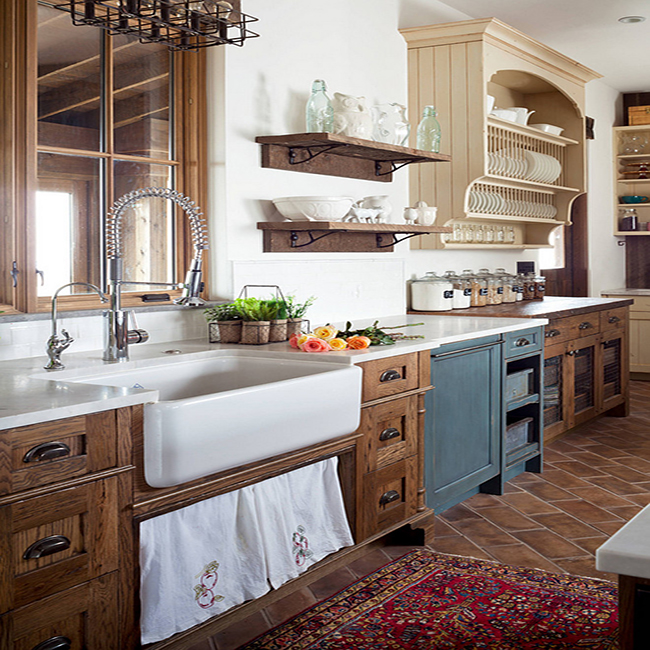 How To Achieve A Farmhouse Kitchen With Granite, Wood, And ... on Farmhouse Granite Countertops  id=35623