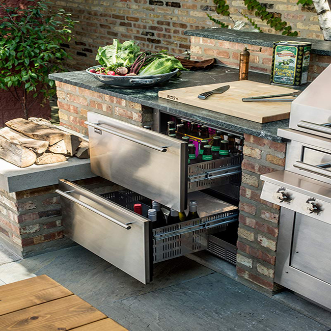 practical outdoor kitchen