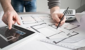 architect architecture drawing project blueprint working design designer