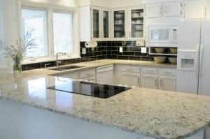 Minimalistic Kitchen with Granite Countertop