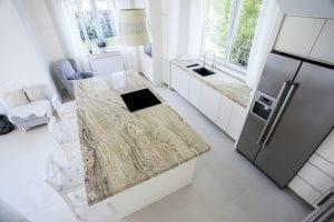 Granite Kitchen Island with Granite Countertop