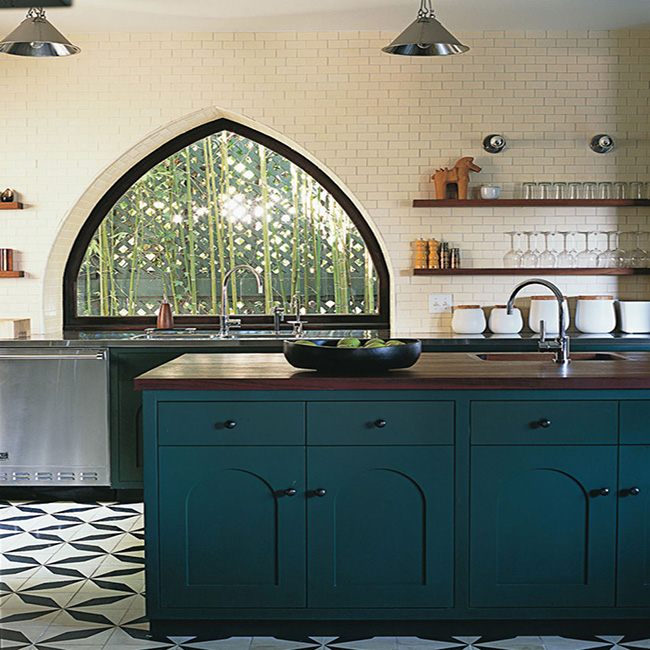 Moroccan Blue Kitchen Cabinets
