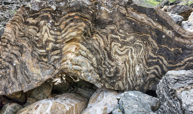 Quartzite metamorphic rock