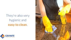 Granite Countertops are Also Very Hygienic and Easy to Clean