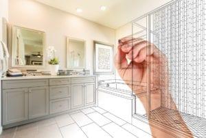Bathroom Design with Granite Countertop