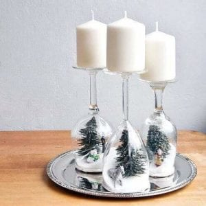 Christmas White Candles