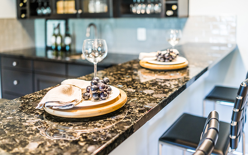 natural stone into a kitchen's design