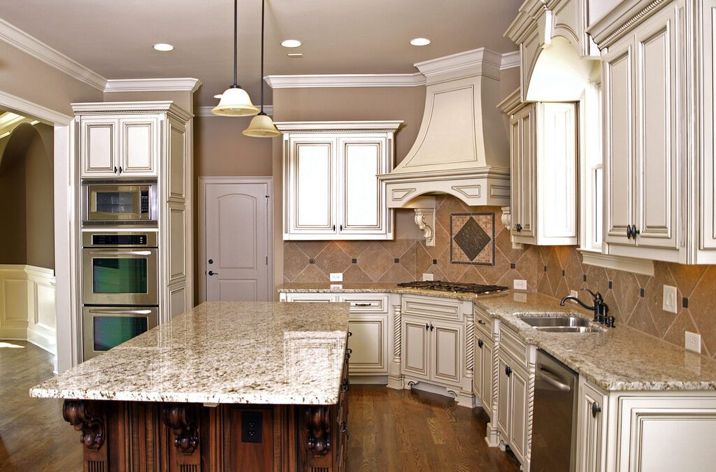 How do granite countertops become glossy?